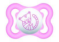 MAM Dudlík Air mini 0-6 m, silikon růžový tygr