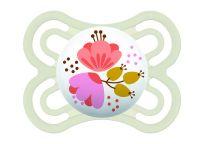 MAM Dudlík Perfect 0-6 m, silikon růžové kytky
