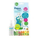 PETITE&MARS Kapsička na jedlo Papoo Original Elephant 6 ks + 50 ml Aquaint