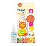 PETITE&MARS Kapsička na jedlo Papoo Original Lion 6 ks + 50 ml Aquaint