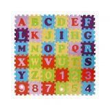 SMT CREATOYS Pěnové puzzle abeceda a čísla asst mix barev 36 ks 15x15x1 cm