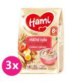 3x HAMI Kaše mléčná se 7 obilninami s banánem a jahodami 210 g, 8+