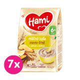7x HAMI Kaše mléčná ovesno-žitná s jablkem a hruškou 210 g, 6+