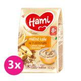 3x HAMI Kaše mléčná se 7 obilninami s jablkem, banánem a pomerančem 210 g, 8+