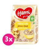 3x HAMI Kaše mléčná jáhlovo-rýžová s jablkem a banánem 210 g, 6+
