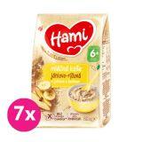 7x HAMI Kaše mléčná jáhlovo-rýžová s jablkem a banánem 210 g, 6+