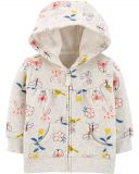 CARTER'S Mikina s kapucí na zip Floral Hoodie dívka 12 m
