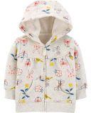 CARTER'S Mikina s kapucí na zip Floral Hoodie dívka NB