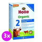 3x HOLLE Bio Dětská mléčná výživa 2 pokračovací