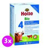 3x HOLLE Bio Dětská mléčná výživa 4 pokračovací