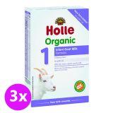 3x HOLLE Bio Dětská mléčná výživa na bázi kozího mléka 1 počáteční