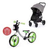 VALCO Kočárek sportovní Snap 4 Flat Matte LTD Edition Fauna + Dětské odrážedlo 2way Next Green/Gray
