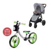 VALCO Snap 4 Trend Sport Kočárek Tailor Made, grey marle + Dětské odrážedlo 2way Next Green/Gray