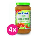 4 x HAMÁNEK Pyré z paradajok, mrkvou a červené šošovky 230 g