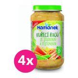 4x HAMÁNEK Kuracie ragú so zeleninou a cestovinou 230 g