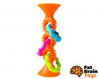FAT BRAIN chrastítko pipSquiz Loops oranžové