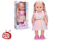 WIKY Eliška chodiace bábika 41 cm, ružové šaty