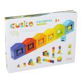 WIKY Farebné domčeky - drevená stavebnica 30 dielov