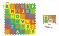 HM STUDIO Pěnové puzzle Čísla a písmena 36 ks