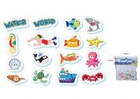 HM STUDIO Pěnové hračky do vody - Vodní svět 16 ks