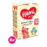 6x HAMI Batolecí mléko s vanilkovou příchutí 600 g 12+