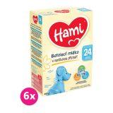 6 x HAMI Batolecí mléko s vanilkovou příchutí 600 g 4+