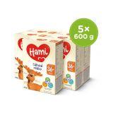 HAMI 5 x Dětské mléko 600 g 36+