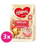 3x HAMI Mléčná kaše se 7 obilninami s banánem a jahodami 210 g, 8+