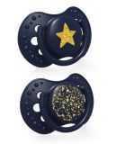 LOVI Silikónový dudlík dynamický Stardust 0-3 m 2 ks