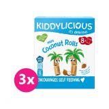 3 x KIDDYLICIOUS Mini kokosové trubičky