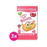 3 x KIDDYLICIOUS Sušenky měkké jahodové