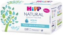HIPP Babysanft Čistící vlhčené ubrousky Aqua Natural 2x60 ks