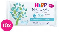 10x HiPP Babysanft Čistící vlhčené ubrousky Aqua Natural 10 ks