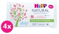 4x HIPP Babysanft Čistící vlhčené ubrousky Natural 10 ks