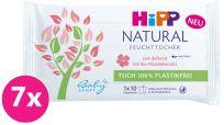 7x HIPP Babysanft Čistící vlhčené ubrousky Natural 10 ks
