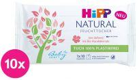 10x HIPP Babysanft Čistící vlhčené ubrousky Natural 10 ks