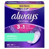 ALWAYS Dailies Normal Fresh&Protect Intímky 60 ks