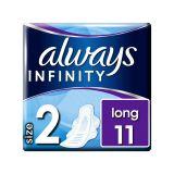 ALWAYS Infinity Long (velikost 2) vložky s křidélky 11 ks