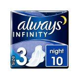 ALWAYS Infinity Night (velikost 3) vložky s křidélky 10 ks