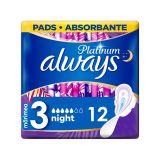 ALWAYS Platinum Night Vložky hygienické 12 ks