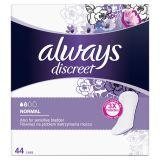 ALWAYS DISCREET Inkontinenční intimky Normal, vhodné také při úniku moči 44 ks
