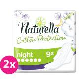 2x NATURELLA Cotton Protection Ultra Night vložky s krídelkami 9 ks