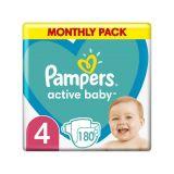 PAMPERS Active Baby 4 (9-14 kg) 180 ks Maxi měsíční balení - jednorázové pleny