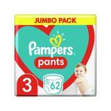 PAMPERS Pants 3 (6-11 kg) 62 ks Jumbo pack - plienkové nohavičky