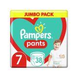 PAMPERS Pants 7 (17 kg+) 38 ks Jumbo pack - plenkové kalhotky