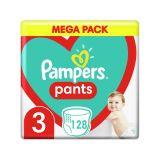 PAMPERS Pants 3 (6-11 kg) 128 ks Midi Mega box - plenkové kalhotky