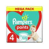PAMPERS Pants 4 (9-15 kg) 108 ks Maxi Mega box - plenkové kalhotky