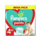 PAMPERS Pants 4+ (9-15 kg) 102 ks Maxi+ Mega box - plenkové kalhotky
