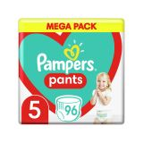 PAMPERS Pants 5 (11-18 kg) 96 ks Mega box - plenkové kalhotky