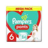 PAMPERS Pants 6 (15 kg+) 84 ks Extra Large Mega box - plenkové kalhotky